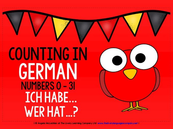 GERMAN FOR CHILDREN - NUMBERS 0-31 - I HAVE, WHO HAS? GAME