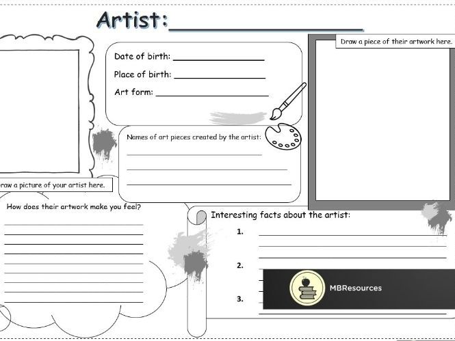 Artist Research Sheet (Editable)
