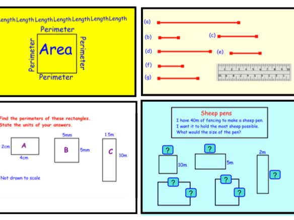 Length, Perimeter and Area (notebook)