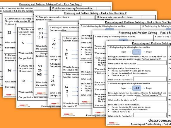 FREE Year 6 Find a Rule - One Step WRM Spring Block 3 Reasoning and Problem Solving Pack