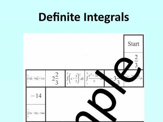 Integration – Definite Integrals – Math Puzzle