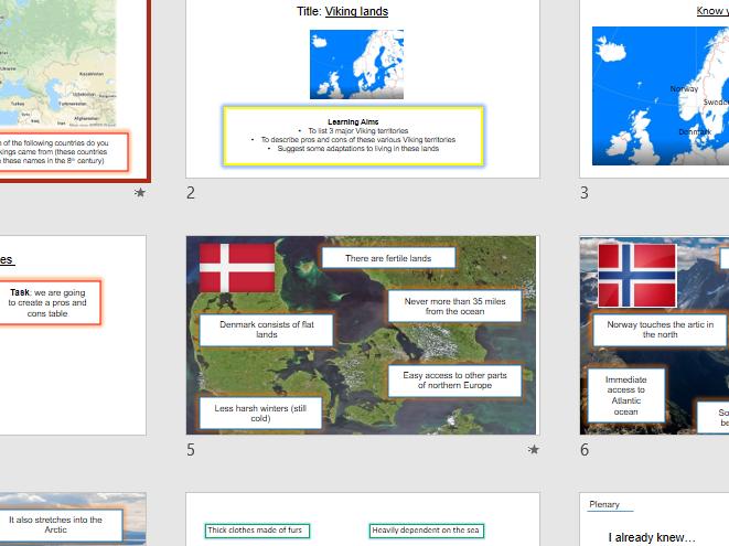 Viking Homelands - GCSE - key stage 4 - OCR Viking Expansion