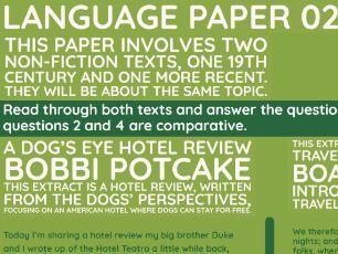 GCSE Language Paper 02: Travelling Dogs