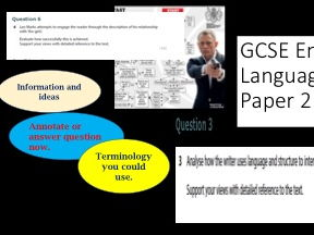 Edexcel GCSE English Language 9-1: Paper 2 Reading Paper (using Specimen Paper on Spies) powerpoints and activities