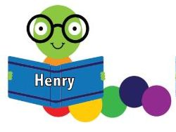 Book Worm Character with Editable Names