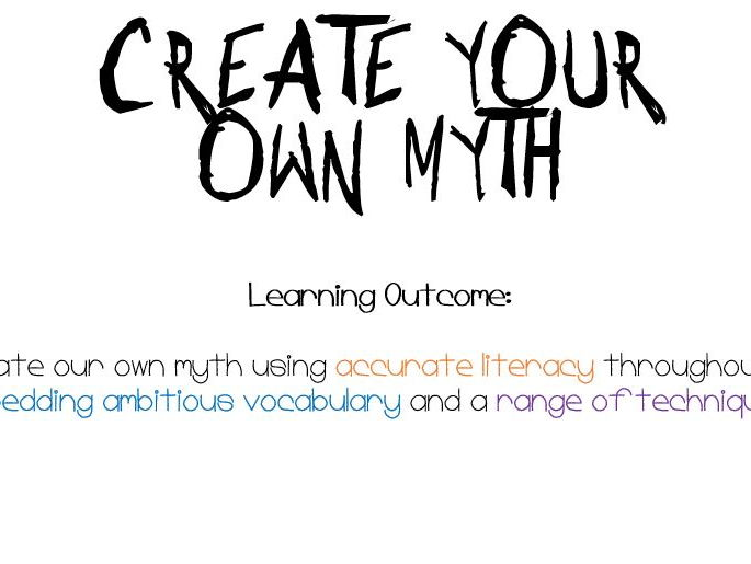 Create your own myth