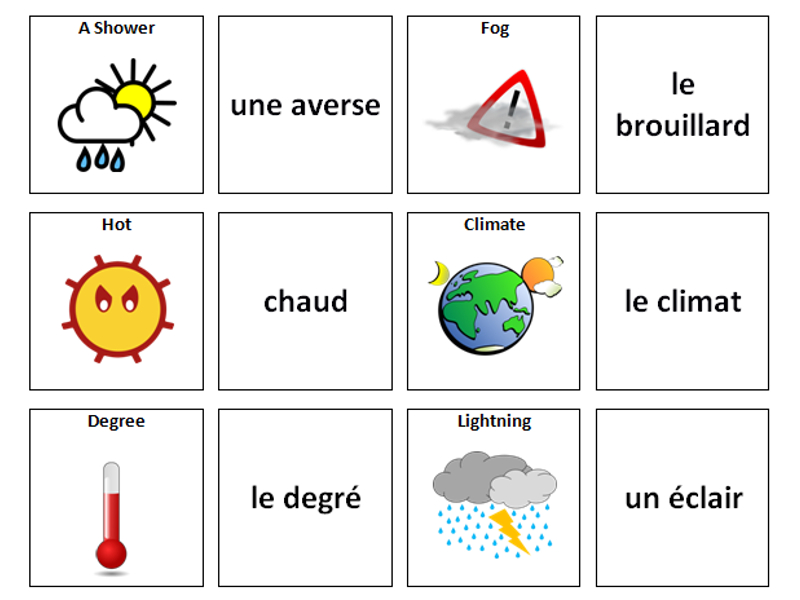 french vocabulary card sorts by ineedtoteachthat teaching resources tes. Black Bedroom Furniture Sets. Home Design Ideas