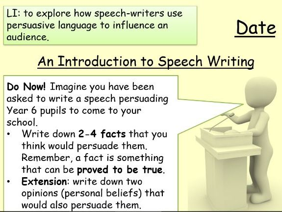 An Introduction to Speech Writing for KS3