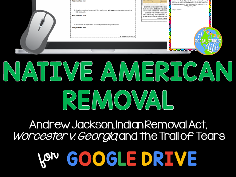 Andrew Jackson, Indian Removal Act, Worcester v. Georgia, Trail of Tears