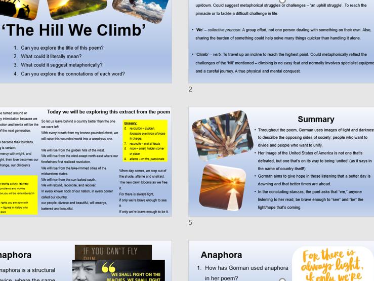 The Hill We Climb poem analysis