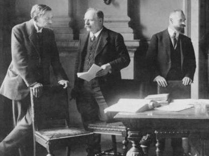 The Treaty of Versailles June 1919.