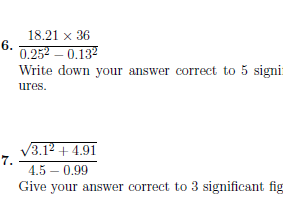 Calculator use worksheet no 3 (with answers)