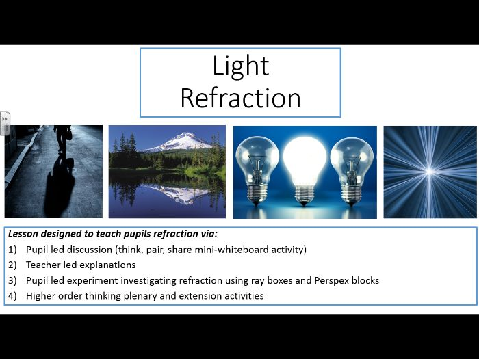 Light - refraction (age 11-14)