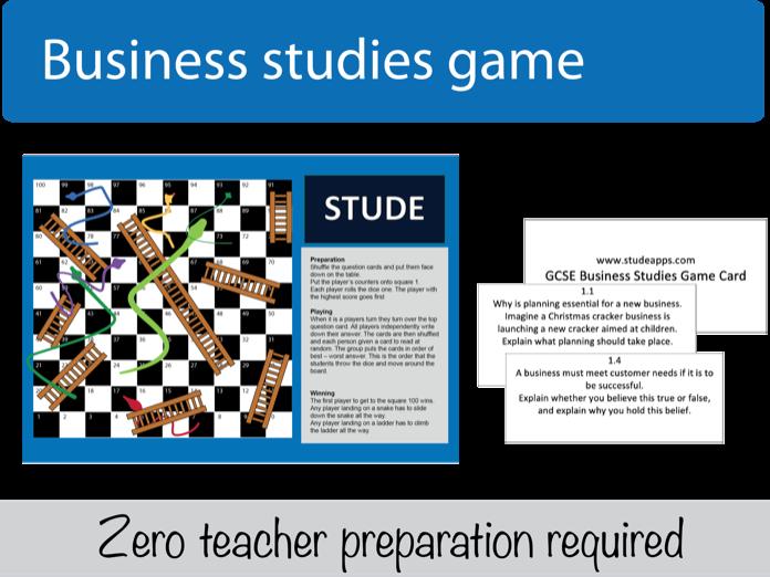 GCSE Business revision Game for OCR GCSE (9-1) J204