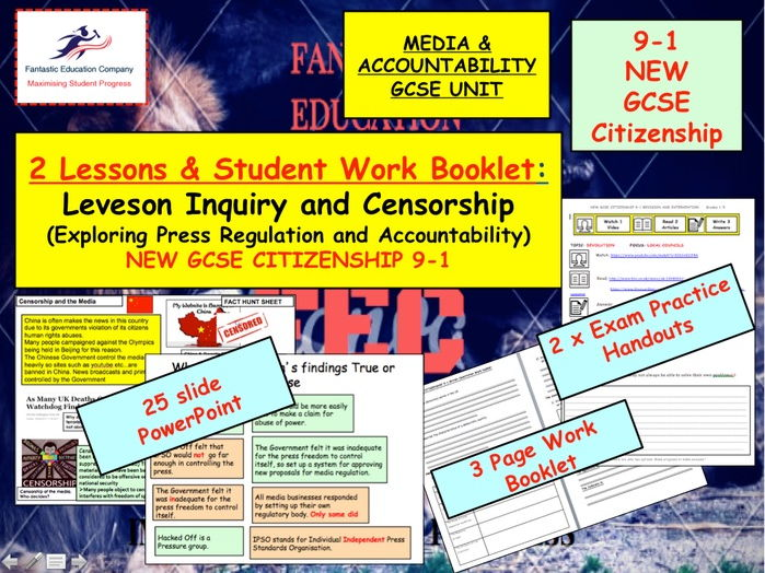 NEW GCSE Citizenship (9-1) Leveson Inquiry, censorship and accountability  New GCSE  (9-1)