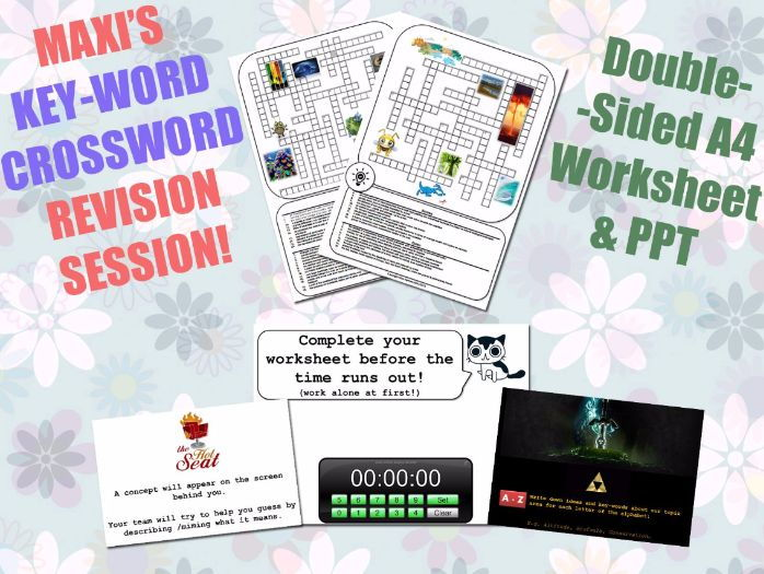 Geography GCSE Key-Word Revision Sessions [Crosswords & Games] (Exam Preparation)