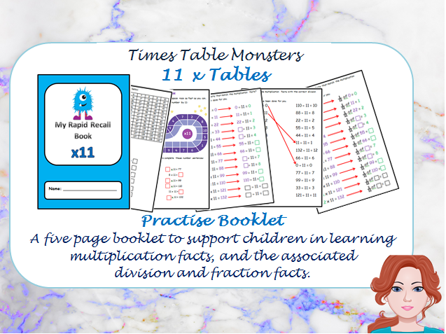 11 x Tables Practise Booklet