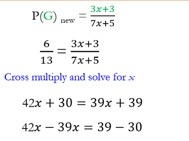 Probability Problems involving Algebra