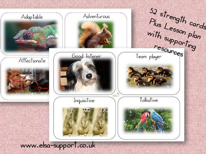PSHE: Self esteem Animal Strength cards