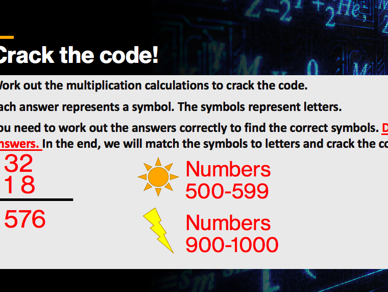 Crack the code multiplication - two digit by two digit