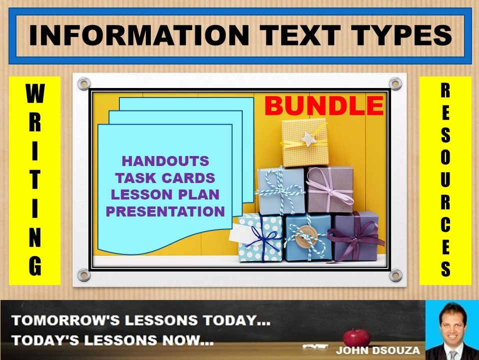 INFORMATION TEXT TYPES BUNDLE