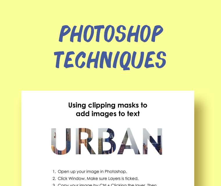 Photoshop: Photos Inside Text