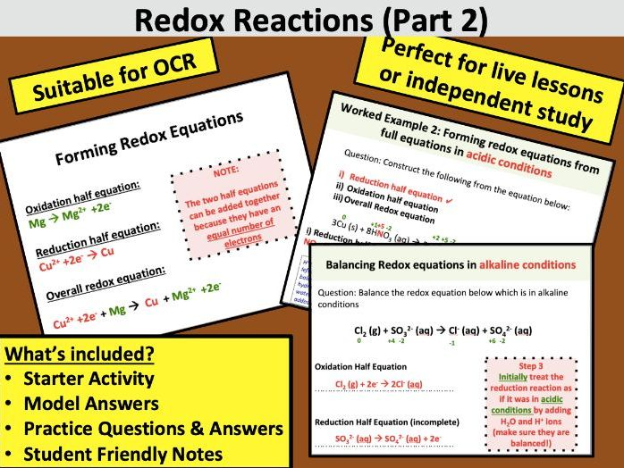 OCR Redox Reactions 2 (A Level Chemistry)