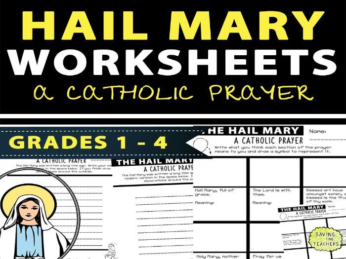 Catholic Prayers: Hail Mary Worksheets / Activities