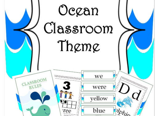 Back To School - Ocean Classroom Theme Pack