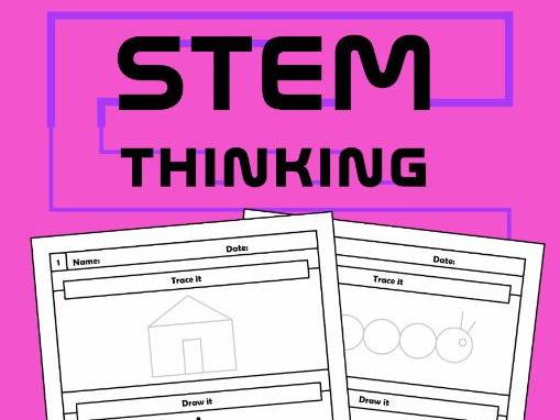 2D Shapes Drawing Worksheets, Art, STEM, STEAM