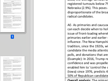 """EDEXCEL A level Politics """"Evaluate how flawed the presidential nomination process is"""" essay plan"""