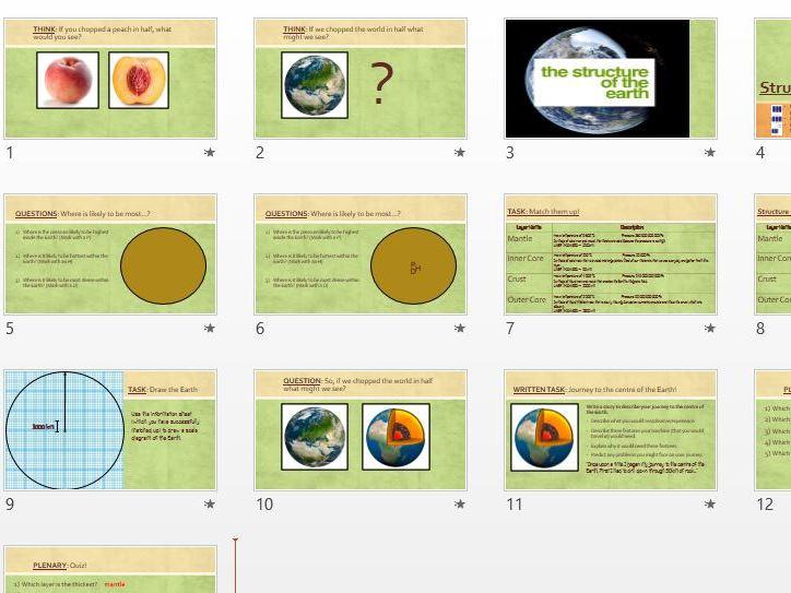 Structure of the Earth (full lesson) - KS3 or KS4 Chemistry