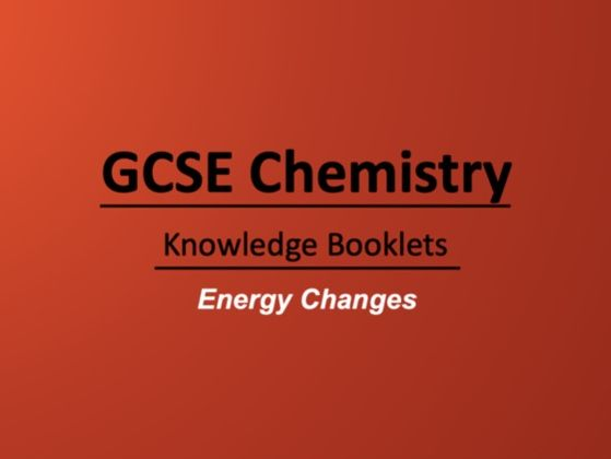 Energy Changes Knowledge Booklet
