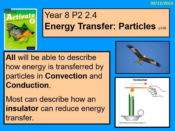 "A digital version of the Year 8  P2 2.4 ""Energy Transfer- Particles"" lesson."