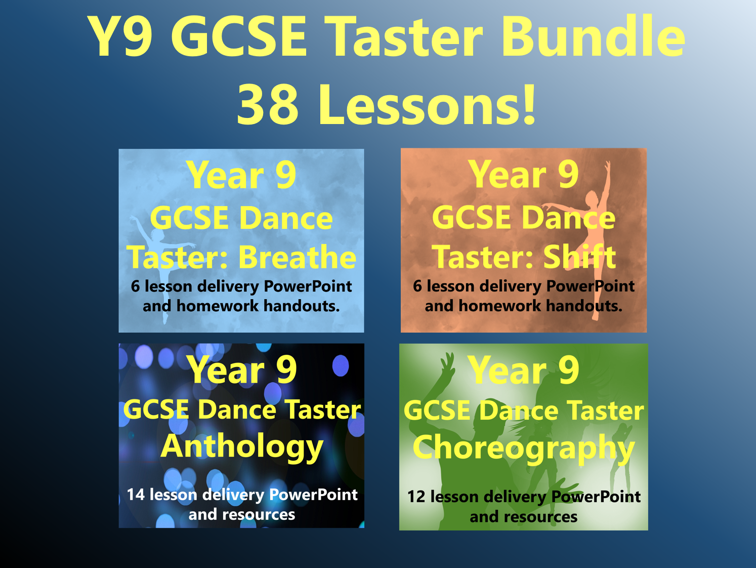 Year 9 GCSE Dance Taster Bundle (38 Lessons!)