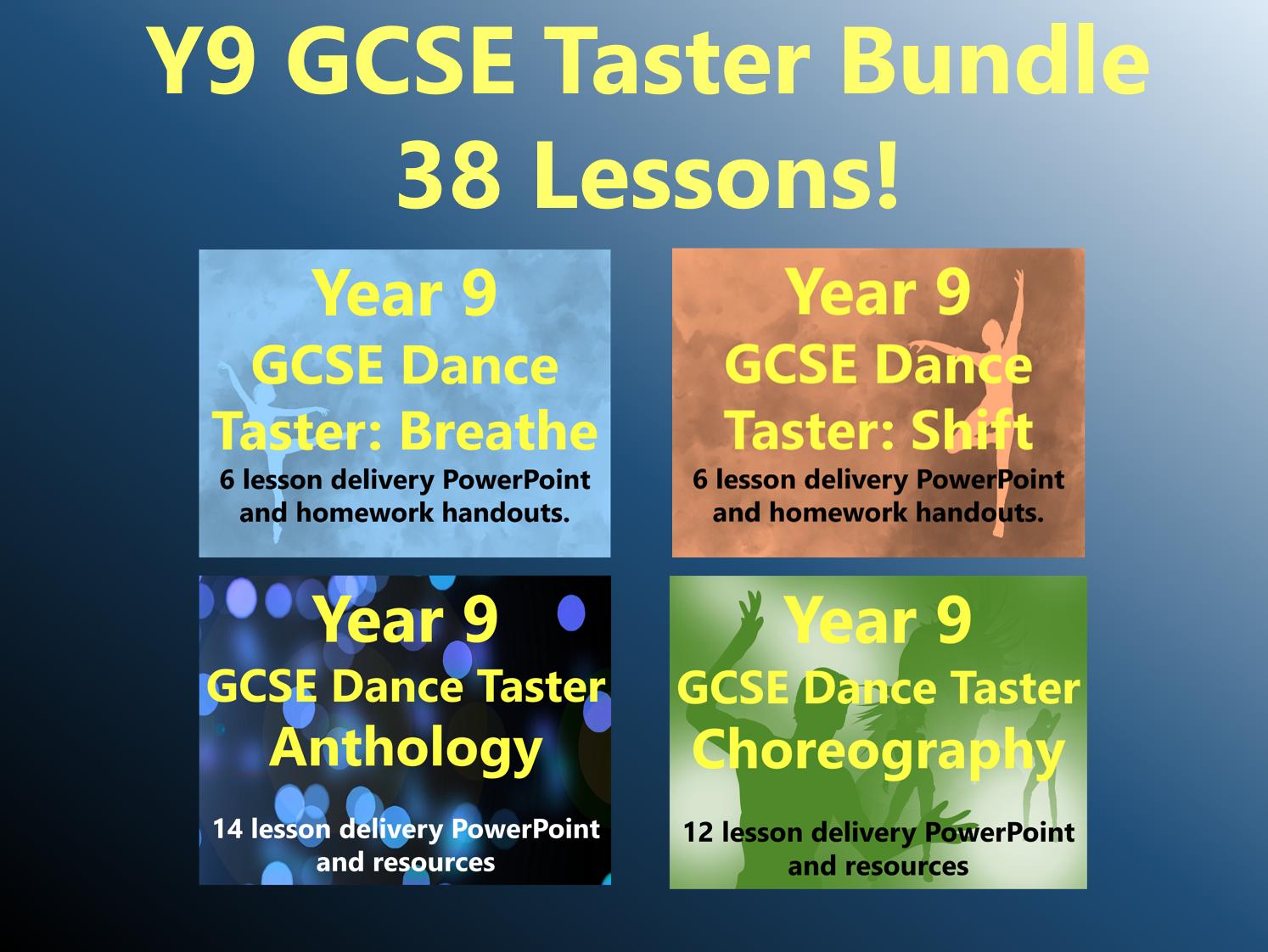 Year 9 GCSE Dance Taster Bundle (38 Lessons!)