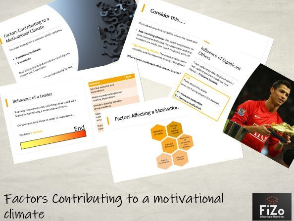 BTEC Sport L3 - Creating a Motivational Climate