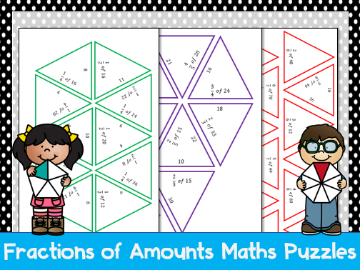 Fractions of Amounts Tarsia Puzzles