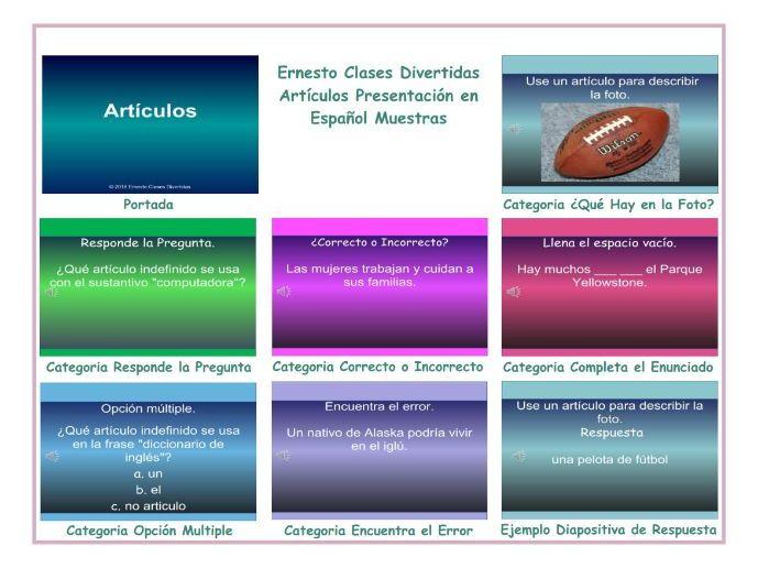 Articles Spanish PowerPoint Presentation