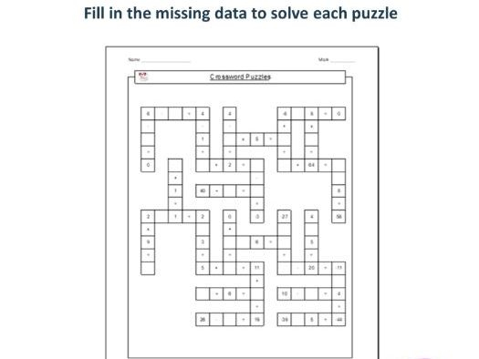 20 Number Cross Puzzles