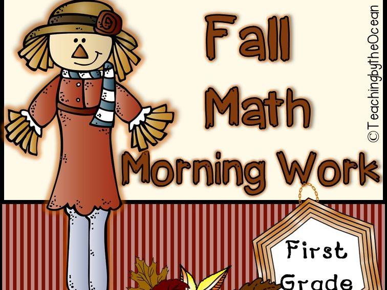 Fall First Grade Math Morning Work