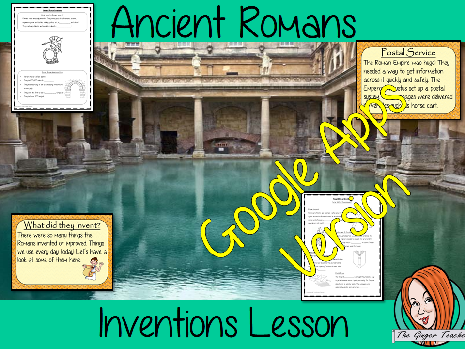 Distance Learning Ancient Romans Inventions Google Slides Lesson