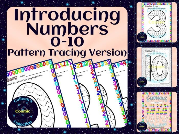 Introducing Numbers 0-10 – Pattern Tracing Version