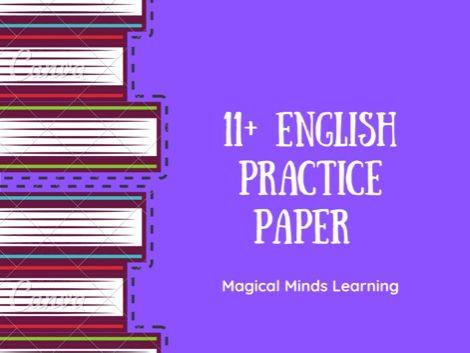 11 Plus English Practice Paper