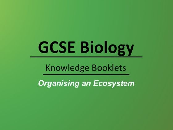 Organising an Ecosystem Knowledge Booklet