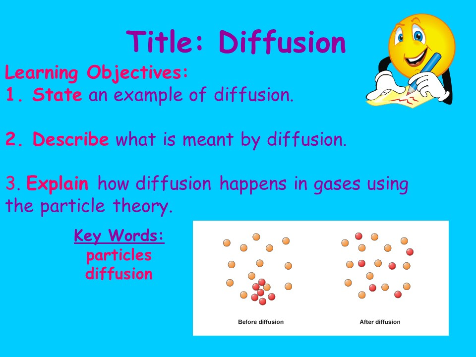 KS3 CHEMISTRY: DIFFUSION
