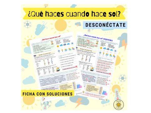 Desconéctate- Punto de partida 1. El tiempo libre/El tiempo. Spanish GCSE Weather/Free time