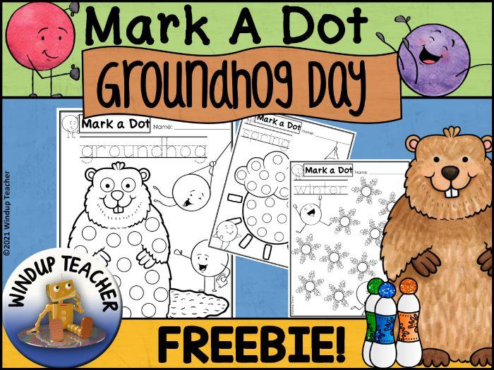 Groundhog Day Dot Dauber Set | Sampler FREEBIE