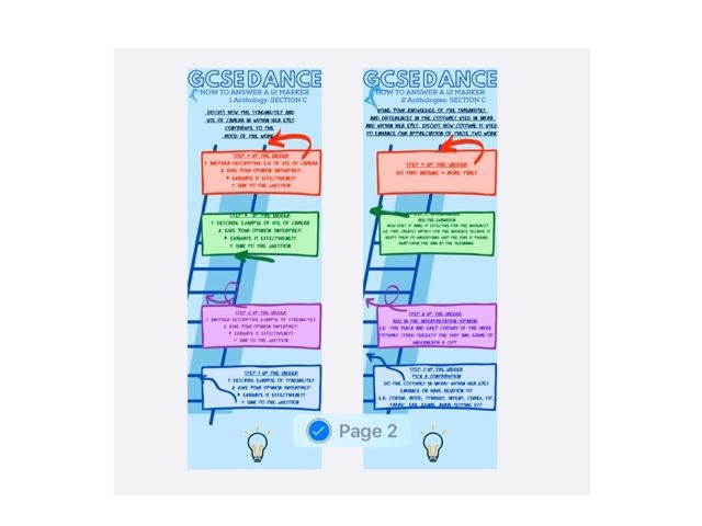 GCSE DANCE BOOKMARKS- EXAM QUESTIONS