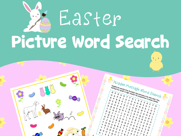 Easter Picture Word Search Puzzle